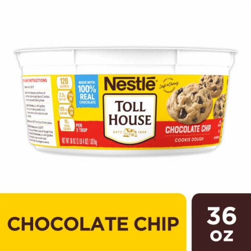 Nestle Toll House Chocolate Chip Cookie Dough Perspective: front