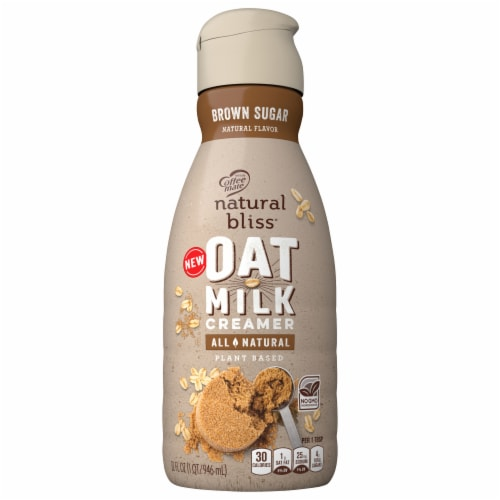 Coffee-mate Natural Bliss Oat Milk Brown Sugar Coffee Creamer Perspective: front