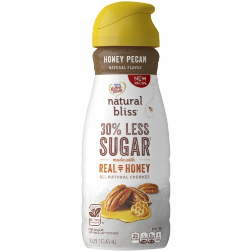 Coffee-Mate Natural Bliss Honey Pecan Flavored Creamer Perspective: front