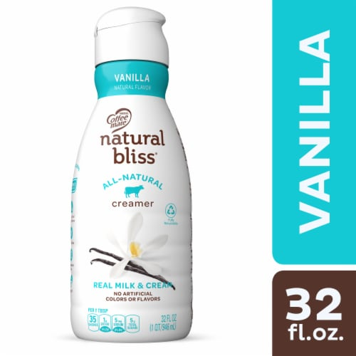 Coffee-mate Natural Bliss All Natural Vanilla Flavor Liquid Coffee Creamer Perspective: front