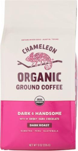 Chameleon Dark & Handsome Organic Dark Roast Ground Coffee Perspective: front