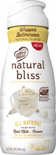 Coffee-mate Natural Bliss Whipped Butter Cream Liquid Coffee Creamer Perspective: front