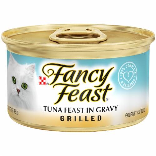 Fancy Feast Grilled Tuna Feast in Gravy Wet Cat Food Perspective: front