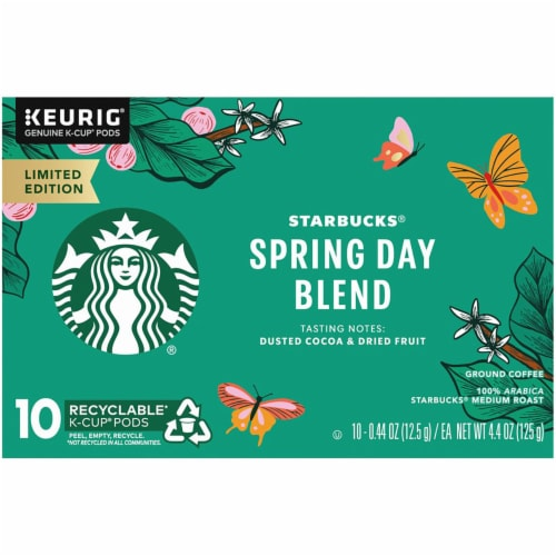 Starbucks Spring Day Blend Medium Roast Coffee K-Cup Pods Perspective: front