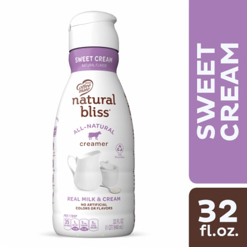 Coffee mate Natural Bliss Sweet Cream All Natural Liquid Coffee Creamer Perspective: front
