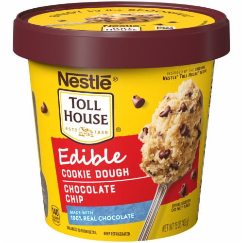 Nestle Toll House Chocolate Chip Edible Cookie Dough Perspective: front