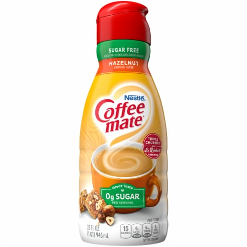 Coffee-mate Hazelnut Sugar Free Liquid Coffee Creamer Perspective: front