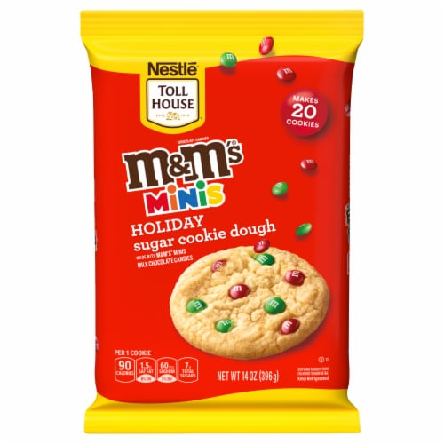 Nestle Toll House M&M'S Minis Holiday Refrigerated Sugar Cookie Dough Perspective: front
