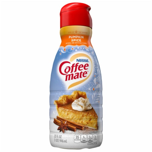 Coffee-mate Pumpkin Spice Liquid Coffee Creamer Perspective: front