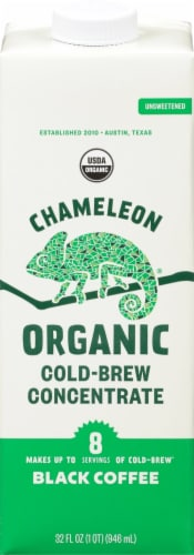 Chameleon Organic Cold-Brew Black Coffee Concentrate Perspective: front