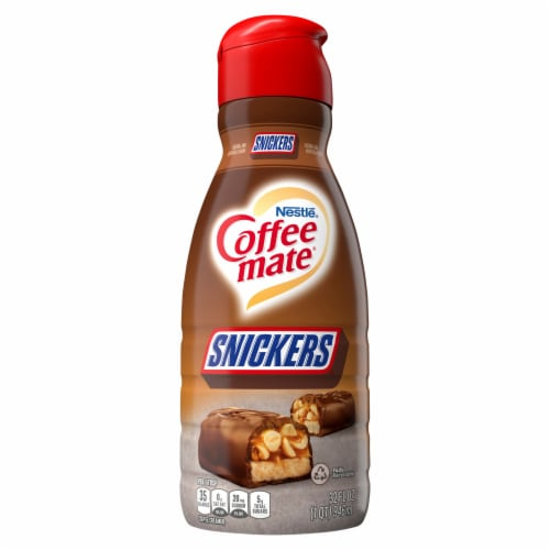 Nestle Coffee mate Snickers Liquid Coffee Creamer Perspective: front