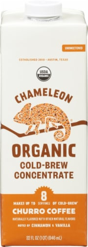 Chameleon Organic Cold Brew Churro Flavored Unsweetened Instant Coffee Perspective: front