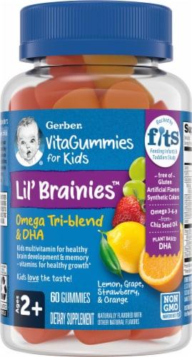 Gerber Lil Brainies Kid Multivitamin Gummies 60 Count Perspective: front