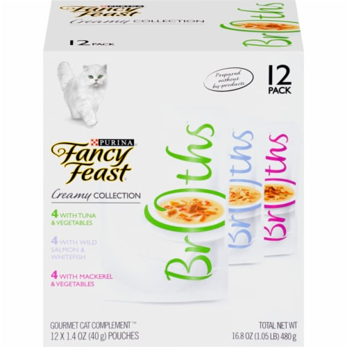 Fancy Feast Creamy Collection Gourmet Cat Food Variety Pack Perspective: front