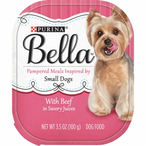 Bella with Beef Wet Food for Small Dogs Perspective: front
