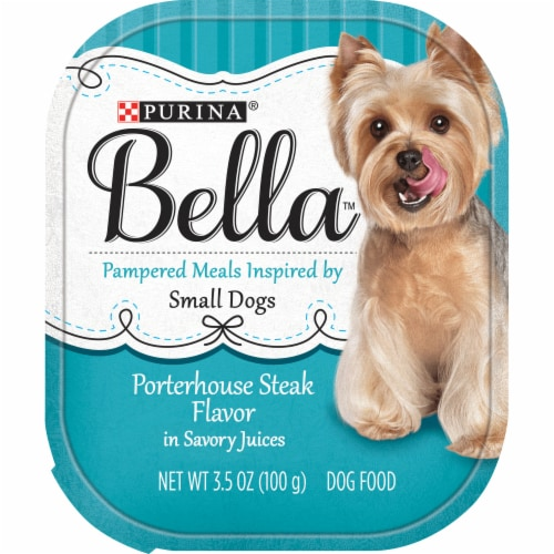 Bella Porterhouse Steak Flavored Wet Dog Food For Small Dogs Perspective: front