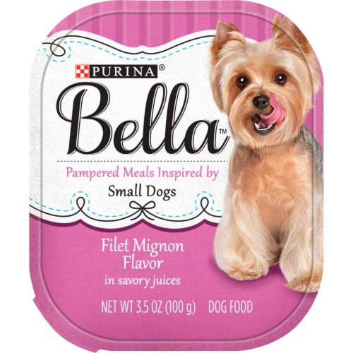 Bella Filet Mignon Flavored Wet Dog Food For Small Dogs Perspective: front