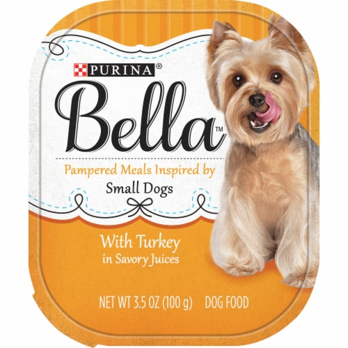 Bella Turkey In Savory Juices Wet Dog Food For Small dogs Perspective: front