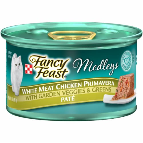 Fancy Feast Medleys White Chicken Primavera Pate Wet Cat Food Perspective: front