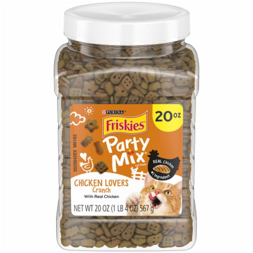 Friskies Party Mix Chicken Lovers Cat Treats Perspective: front