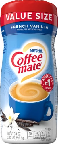 Coffee-mate French Vanilla Powder Coffee Creamer Value Size Perspective: front