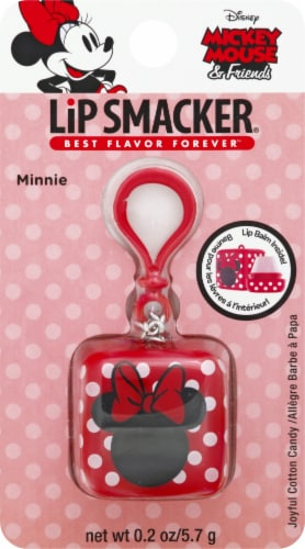 Lip Smacker Mickey Mouse & Friends Minnie Joyful Cotton Candy Keychain Lip Balm Perspective: front