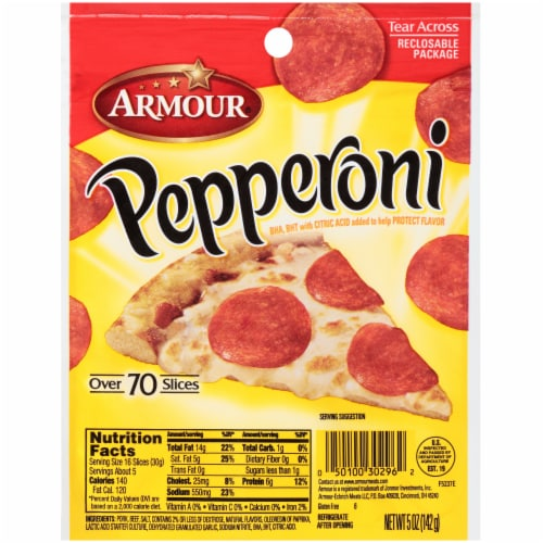 Armour Sliced Pepperoni Perspective: front