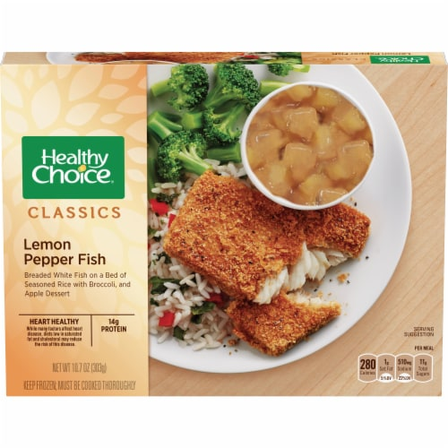 Healthy Choice Lemon Pepper Fish Frozen Meal Perspective: front