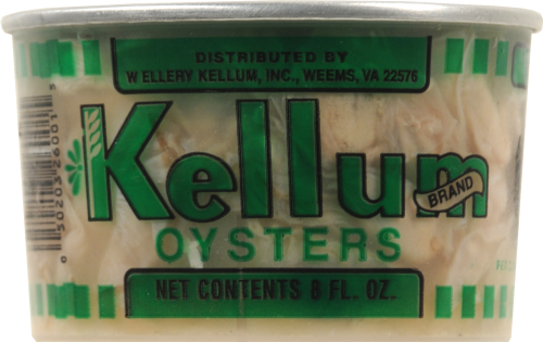 Kellum Brand Oysters Fresh Oysters Perspective: front