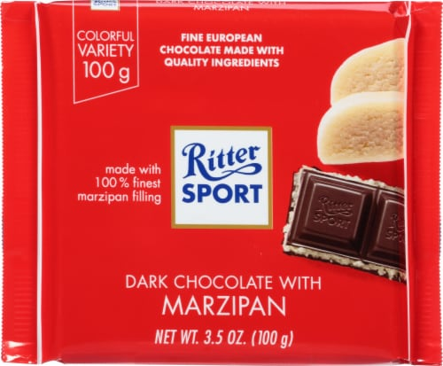 Ritter Sport Dark Chocolate With Marzipan Perspective: front