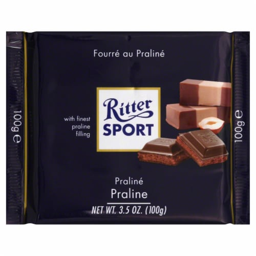 Ritter Sport Praline Chocolate Bar Perspective: front