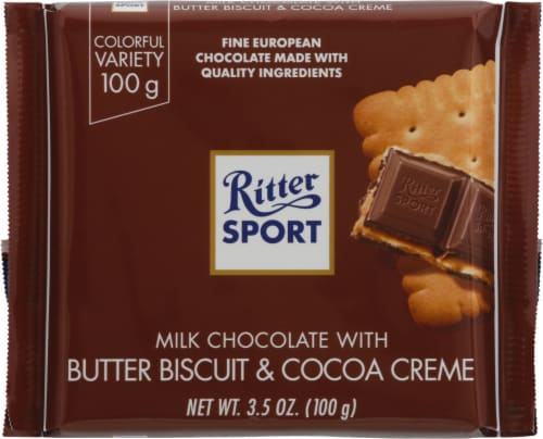 Ritter Sport Milk Chocolate with Butter Biscuit Perspective: front