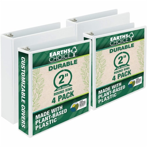 Samsill Earth's Choice Ring Binders - 4 pk - White Perspective: front