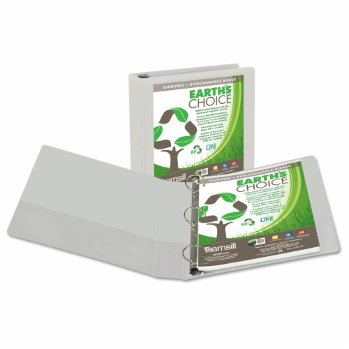 Samsill Earth's Choice Biobased Round Ring View Binder Perspective: front