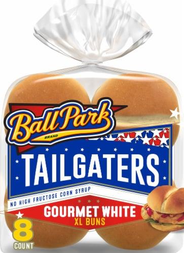 Ball Park Tailgaters Gourmet Hamburger Buns Perspective: front