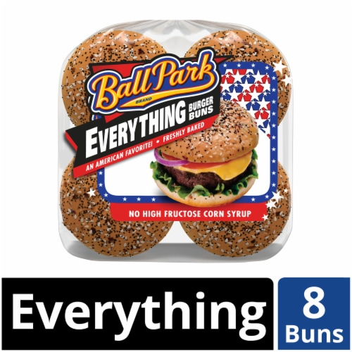 Ball Park® Everything Hamburger Buns Perspective: front