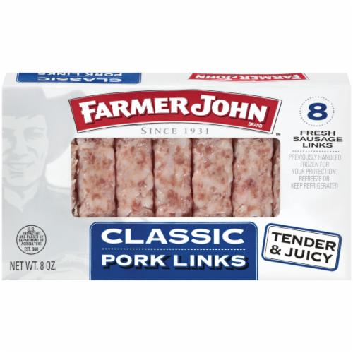 Farmer John Classic Pork Links Perspective: front