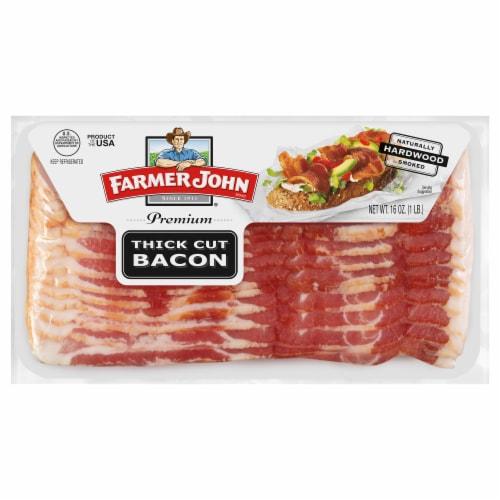 Farmer John Premium Thick Cut Bacon Perspective: front