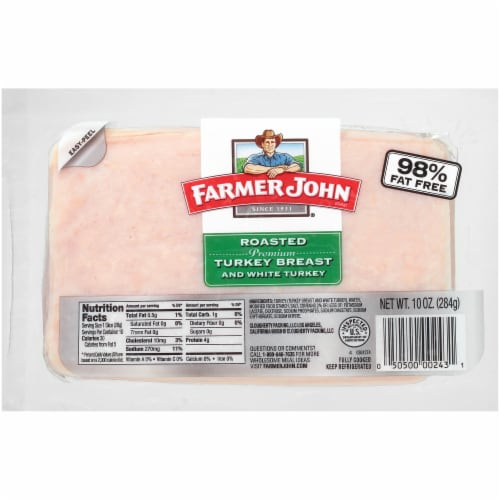 Farmer John Pemium Turkey Breast & White Turkey Perspective: front