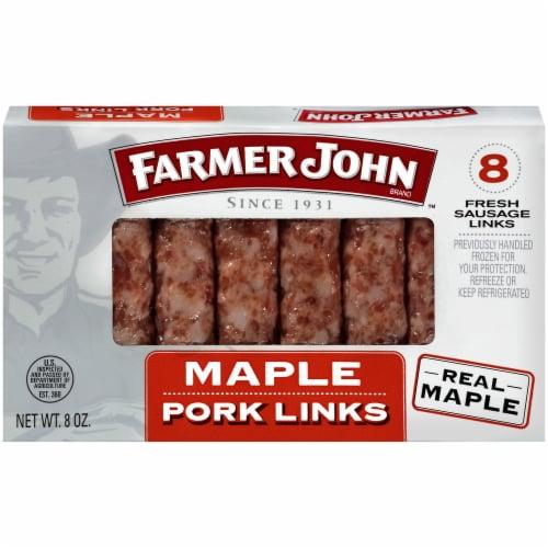 Farmer John Maple Pork Sausage Links 8 Count Perspective: front