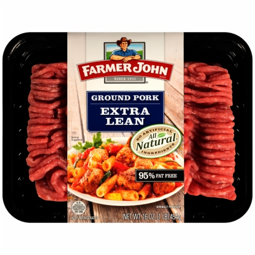 Farmer John All Natural Extra Lean Ground Pork Perspective: front