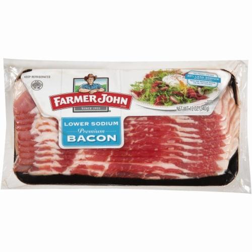 Farmer John Premium Low Sodium Bacon Perspective: front