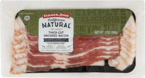 Farmer John California Natural Thick-Cut Uncured Bacon Perspective: front