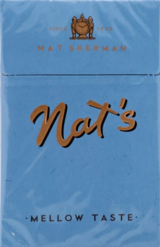 Nat's Blue Kings Cigarettes Perspective: front
