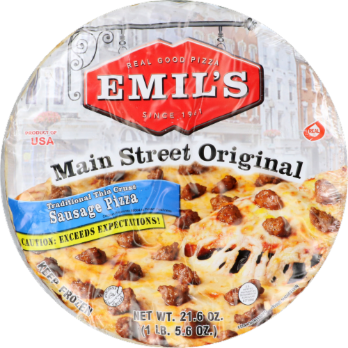 Emil's Main Street Original Sausage Pizza Perspective: front