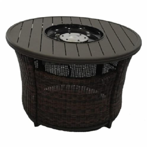 Patio Master 230251 42 in. Round Four Seasons Courtyard Bermuda Fire Pit Perspective: front