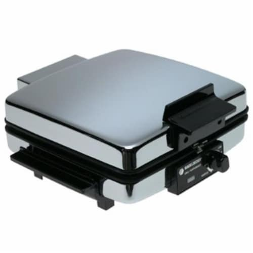 Black and Decker 4 Black Stainless Steel Waffle Maker - Case Of: 1; Perspective: front