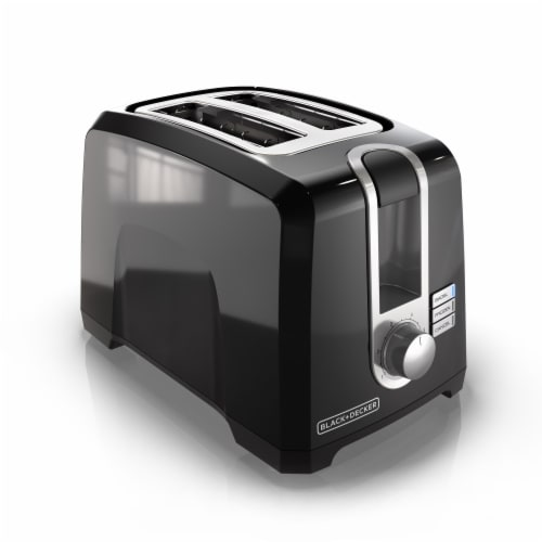 BLACK + DECKER 2-Slice Toaster - Black Perspective: front