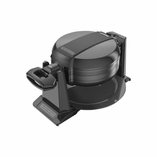 Applica Black-Decker Double Flip Waffle Maker, Black Perspective: front