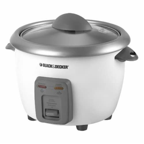 Applica Black & Decker 6-Cup Rice Cooker, White Out Perspective: front